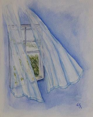 Painting - Window Breeze by Kelly Mills