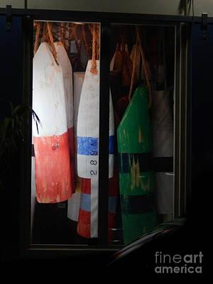 Window Buoys Key West Art Print