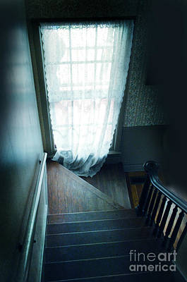 Photograph - Window By Dark Stairway by Jill Battaglia
