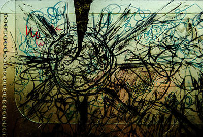 Photograph - Window Drawing 01 by Grebo Gray