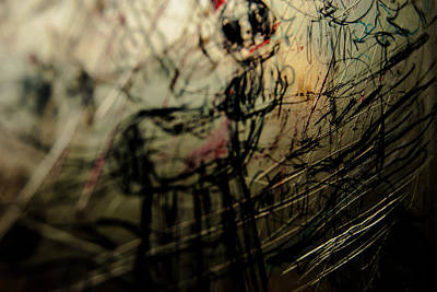 Photograph - Window Drawing 03 by Grebo Gray