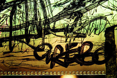 Photograph - Window Drawing 04 by Grebo Gray