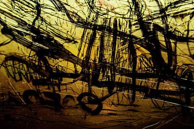 Photograph - Window Drawing 06 by Grebo Gray