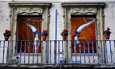 Window Dressing 2 In Florence Italy Art Print