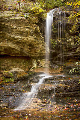 Photograph - Window Falls In Hanging Rock State Park by Bob Decker