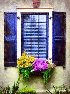 Photograph - Window Flower Box View by Janine Riley