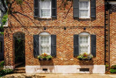 Photograph - Window Flowers - Charleston by Frank J Benz