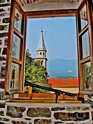 Window. Fortress. Mountains Original