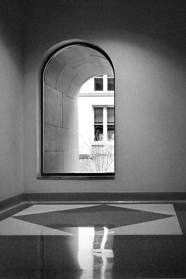 Photograph - Window - Harold Washington Library - Chicago by Nikolyn McDonald