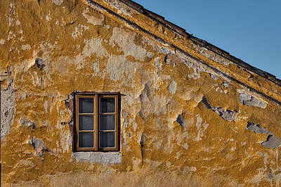 Photograph - Window In A Weathered Czech Wall by Stuart Litoff
