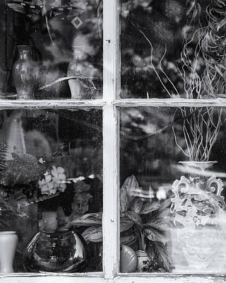 Window In Black And White Art Print
