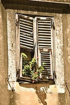 Window In Dubrovnik Art Print by Alberta Brown Buller