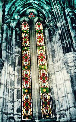 Photograph - Window In The Lisbon Cathedral by Sarah Loft