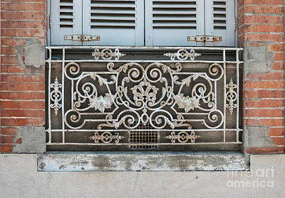 Antique Ironwork Photograph - Window In Toulouse by Elena Elisseeva