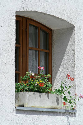 Photograph - Window In Zermatt by Christine Amstutz