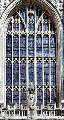 Photograph - Window Into Abbey by Sharon Popek