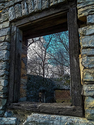 Photograph - Window Into The Past - Bare's Mill by Greg Reed