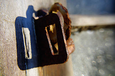 Photograph - Window Latch by Adria Trail