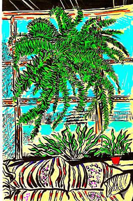 Window Loving Fern Art Print