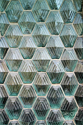 Photograph - Window Made Of Glass Blocks by Michal Boubin