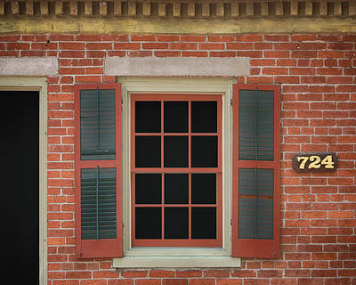 Photograph - Window - Main Street - Saint Charles by Nikolyn McDonald