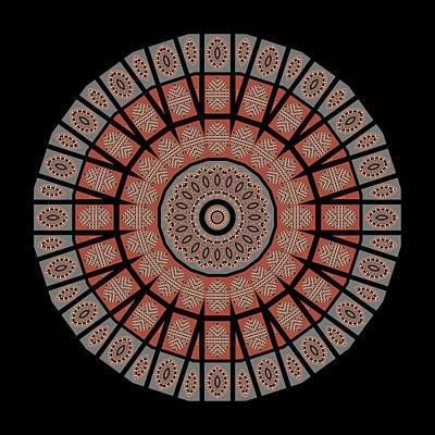 Mandala Photograph - Window Mosaic - Mandala by Nikolyn McDonald