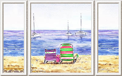 Painting - Window Of The Beach House by Irina Sztukowski