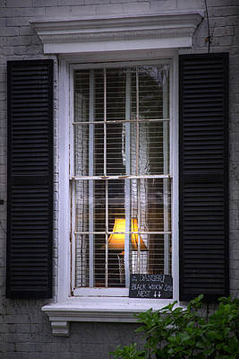 Photograph - Window Of The Black Widow by Mark Andrew Thomas