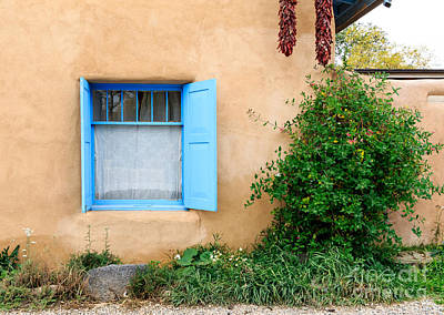 Photograph - Window On An Adobe House by Richard Smith
