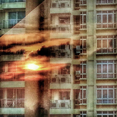 Photograph - Window On Fire by Yen
