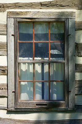 Log Cabin Art Photograph - Window On Log Cabin by Donald  Erickson