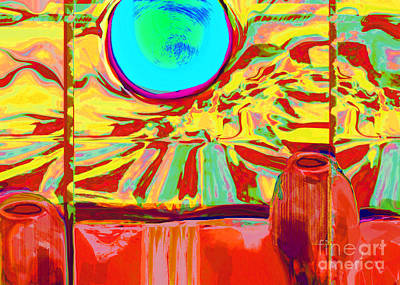 Digital Art - Window On Santa Fe No.2 by Zsanan Narrin