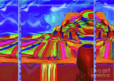 Digital Art - Window On Santa Fe No.3 by Zsanan Narrin