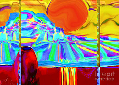Digital Art - Window On Santa Fe No.4 by Zsanan Narrin