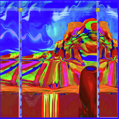 Digital Art - Window On Santa Fe by Zsanan Narrin