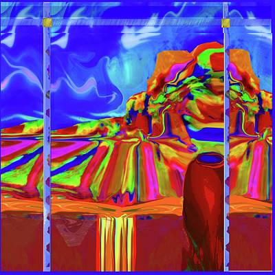 Window On Santa Fe Art Print