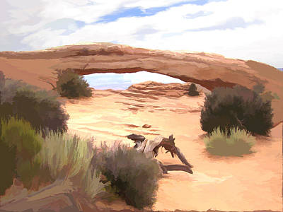 Digital Art - Window On The Valley by Gary Baird