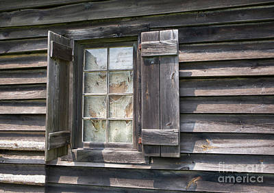 Photograph - Window On Weathered Barn by Kevin McCarthy