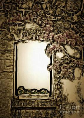 Royalty Free Images Digital Art - Window Or Mirror In Ambiance by Catherine Lott
