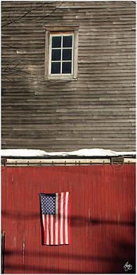 Photograph - Window Over A Flag by Wayne King
