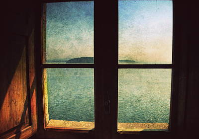 Window Overlooking The Sea Art Print