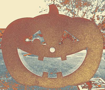 Window Pumpkin #1 Art Print