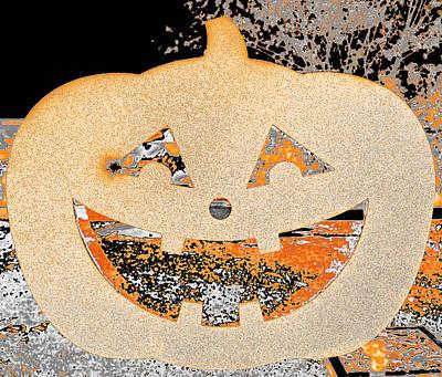 Photograph - Window Pumpkin #3 by Anne Westlund