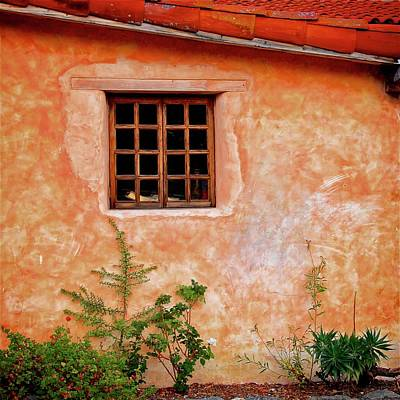 Photograph - Window Reading At Carmel Mission, California by Flying Z Photography by Zayne Diamond