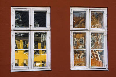 Photograph - Window Reflections by Inge Riis McDonald