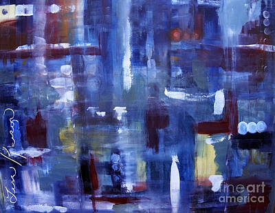 Digital Art - Window Reflections Of The Past Abstract Painting by Lisa Kaiser