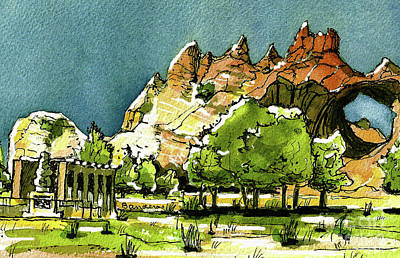 Painting - Window Rock Arizona by Terry Banderas