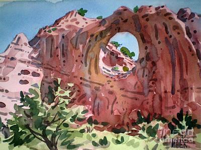 Window Rock Art Print by Donald Maier