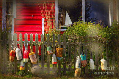 Photograph - Window Sailboat Buoy by Craig J Satterlee
