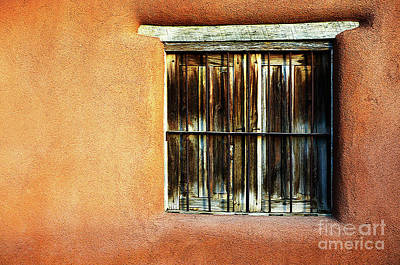 Photograph - Window Sante Fe by Bob Christopher